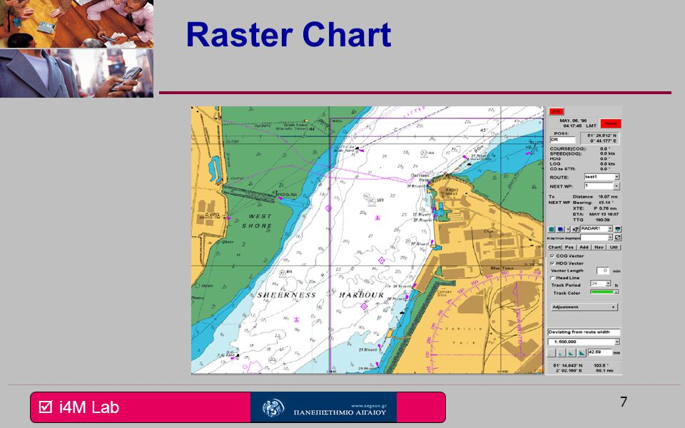  i4M Lab ENC Data Integrating data from different sourcesIntegrating data from different sources – Inshore depth areas & obstructions – New channel information – Updated Aids to Navigation