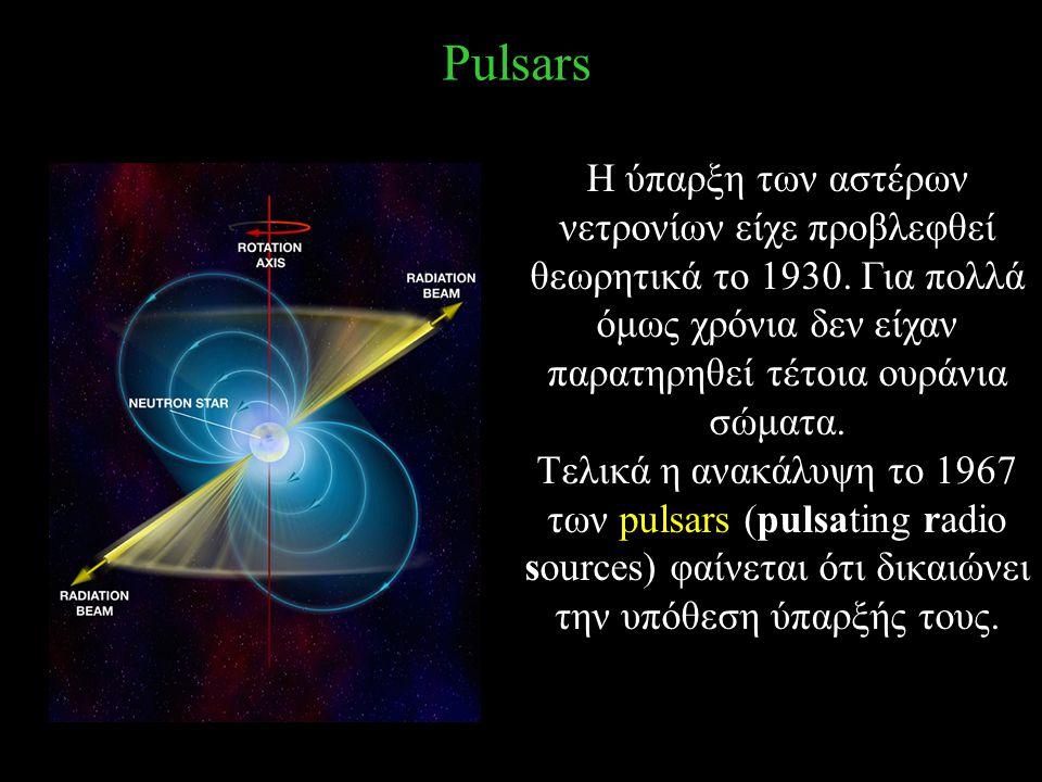 H ύπαρξη των αστέρων νετρονίων είχε προβλεφθεί θεωρητικά το 1930.