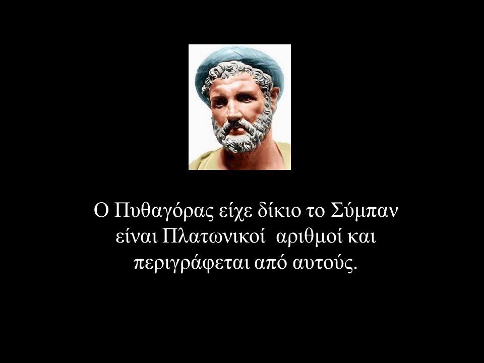 Ο Πυθαγόρας είχε δίκιο το Σύμπαν είναι Πλατωνικοί αριθμοί και περιγράφεται από αυτούς.