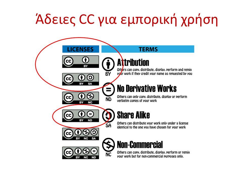 Άδειες CC για εμπορική χρήση