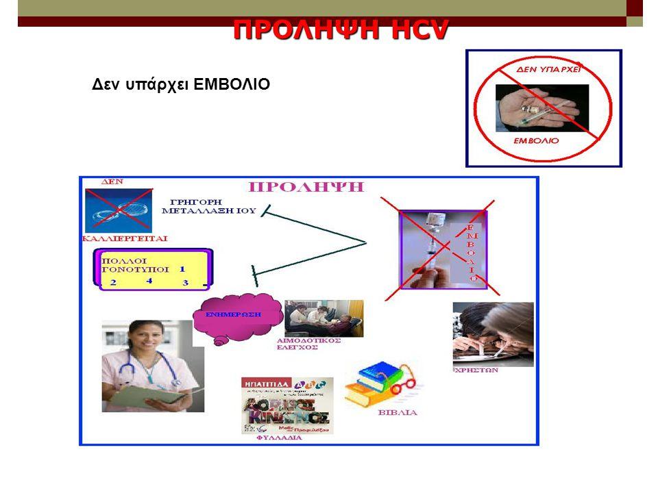 Δεν υπάρχει ΕΜΒΟΛΙΟ ΠΡΟΛΗΨΗ HCV