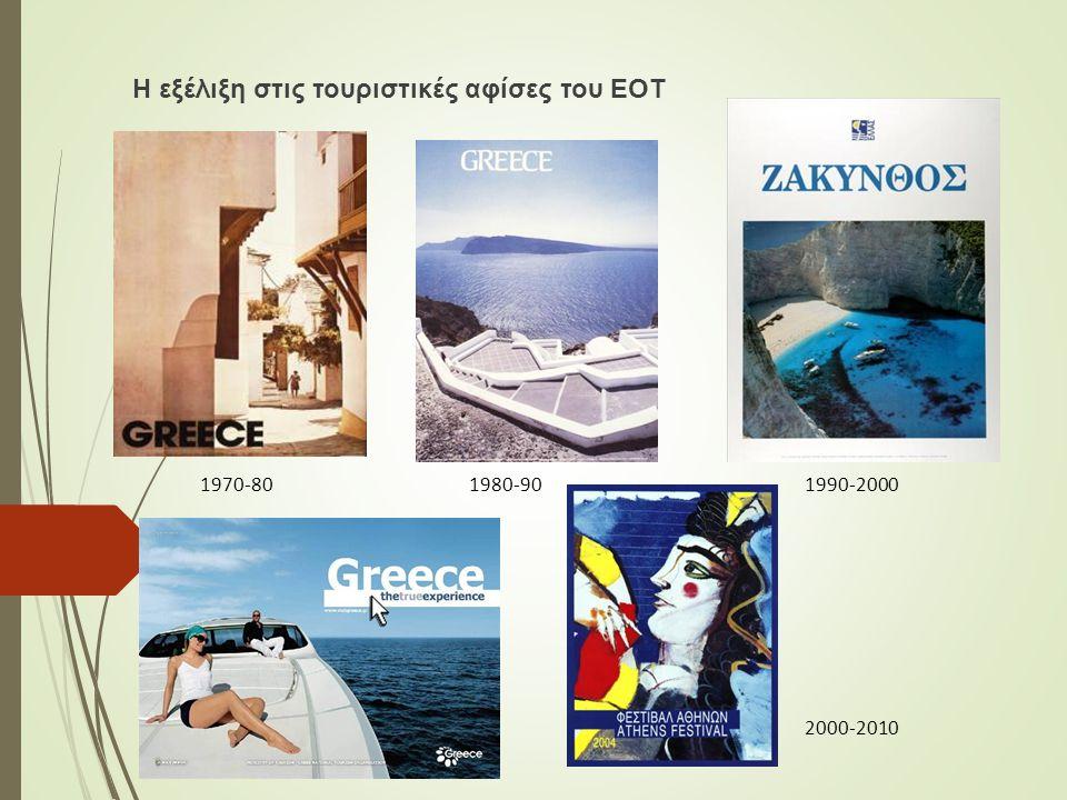 Η εξέλιξη στις τουριστικές αφίσες του ΕΟΤ 1970-801980-901990-2000 2000-2010