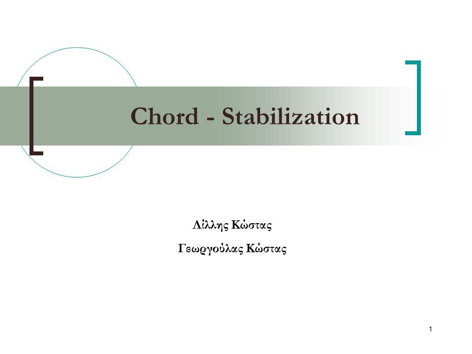 2 Γενικά To Chord θα πρέπει να μπορεί να διαχειρίζεται ταυτόχρονα joins κόμβων.