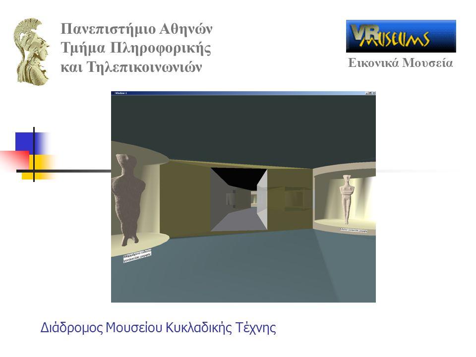 Πανεπιστήμιο Αθηνών Τμήμα Πληροφορικής και Τηλεπικοινωνιών Εικονικά Μουσεία Διάδρομος Μουσείου Κυκλαδικής Τέχνης