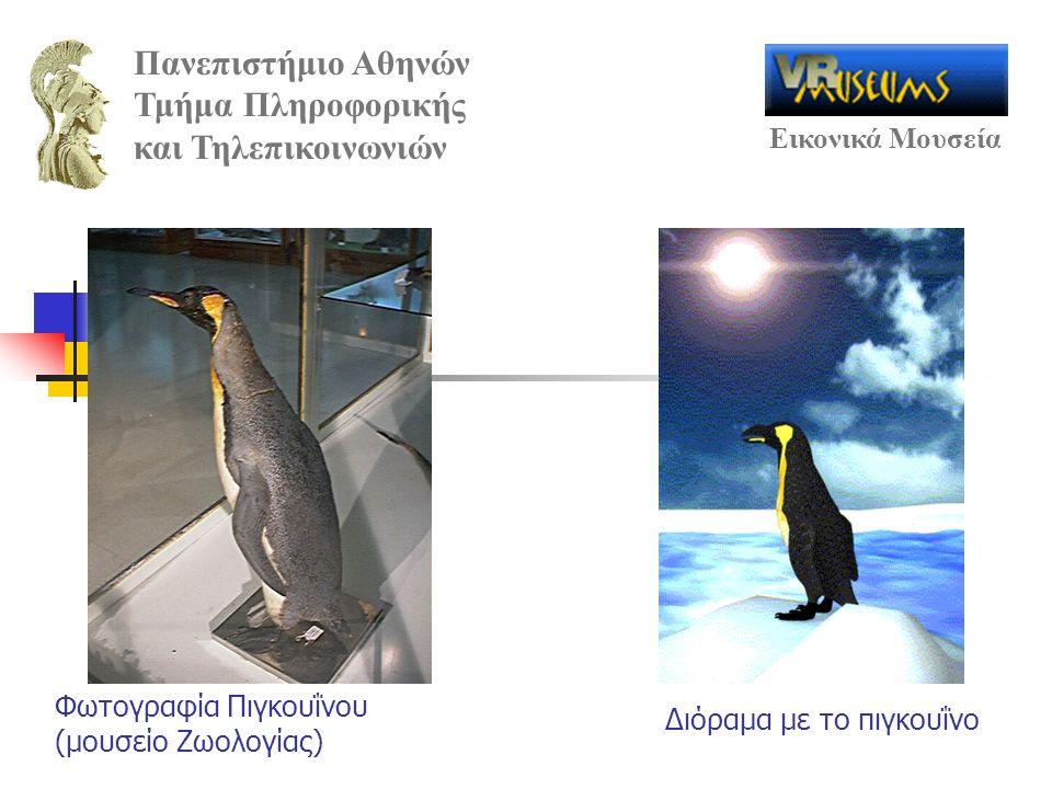 Πανεπιστήμιο Αθηνών Τμήμα Πληροφορικής και Τηλεπικοινωνιών Εικονικά Μουσεία Φωτογραφία Πιγκουΐνου (μουσείο Ζωολογίας) Διόραμα με το πιγκουΐνο