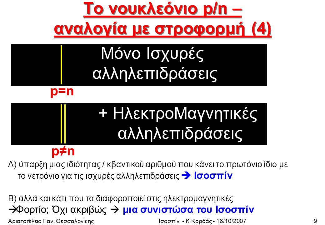 Αριστοτέλειο Παν.ΘεσσαλονίκηςΙσοσπίν - Κ Κορδάς - 16/10/200740 2.