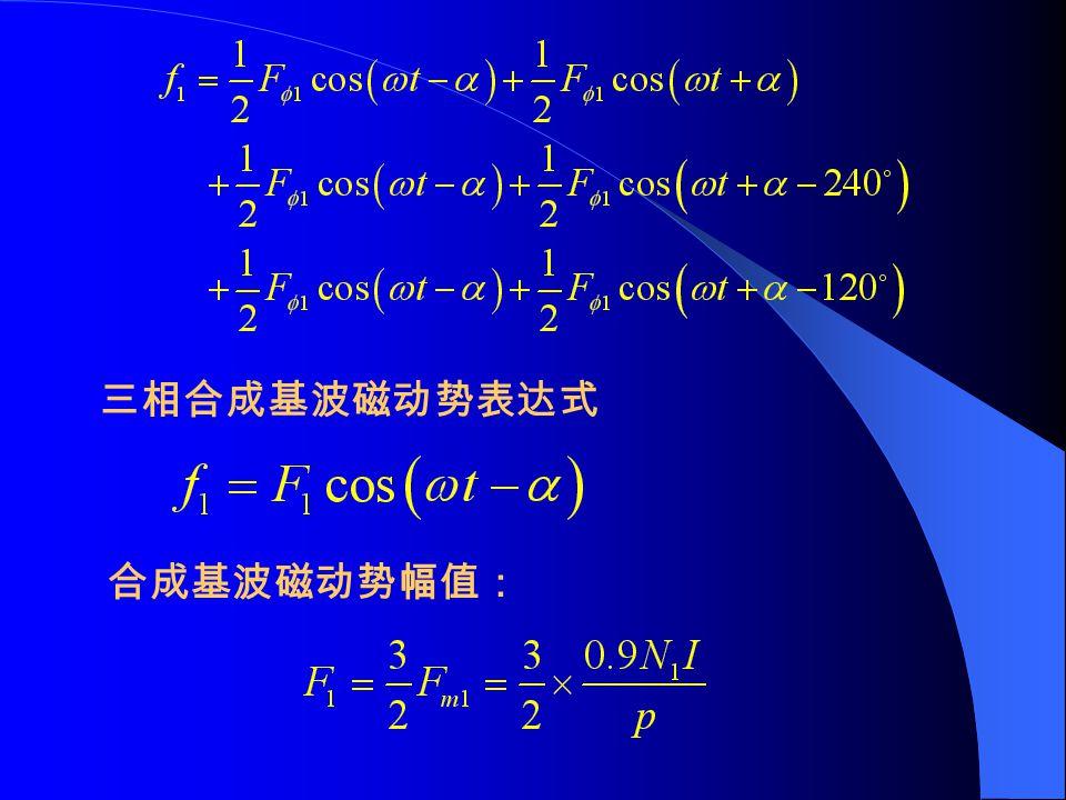 合成基波磁动势幅值:
