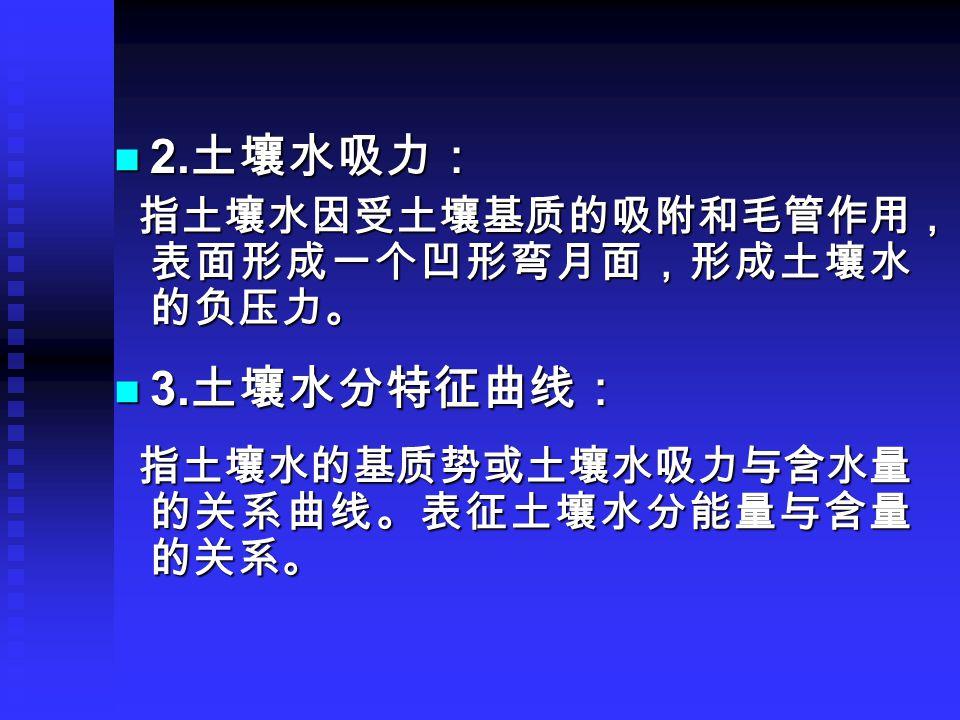 2. 土壤水吸力: 2.