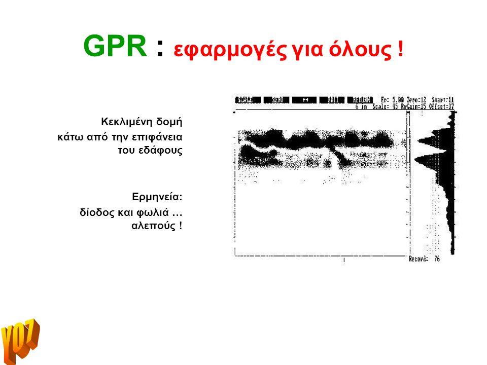 GPR : εφαρμογές για όλους .