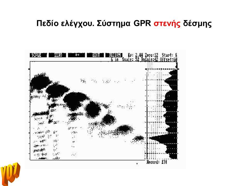 Πεδίο ελέγχου. Σύστημα GPR ευρείας δέσμης