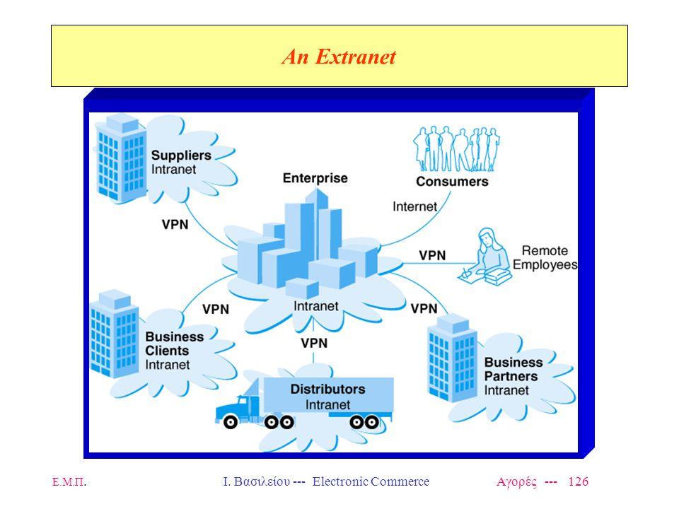 Ε.Μ.Π.Ι. Βασιλείου --- Electronic Commerce Αγορές --- 126 An Extranet