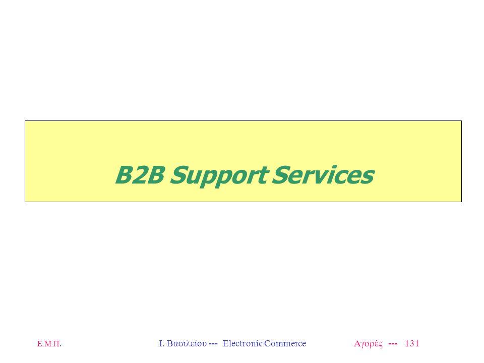 Ε.Μ.Π.Ι. Βασιλείου --- Electronic Commerce Αγορές --- 131 B2B Support Services