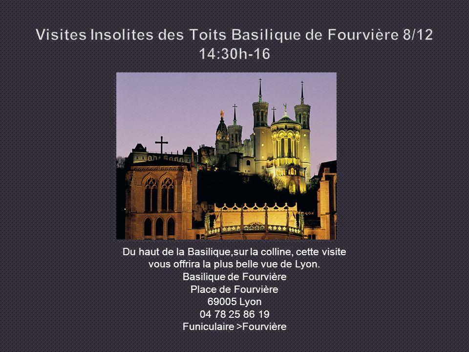Du haut de la Basilique,sur la colline, cette visite vous offrira la plus belle vue de Lyon.