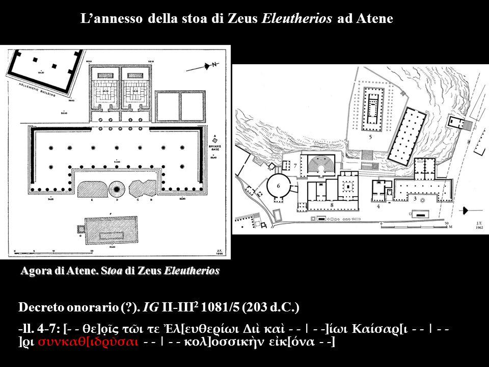 Decreto onorario ( ). IG II-III 2 1081/5 (203 d.C.) -ll.