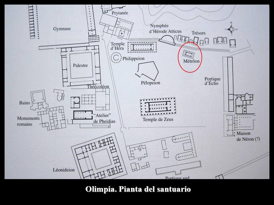 Olimpia. Pianta del santuario