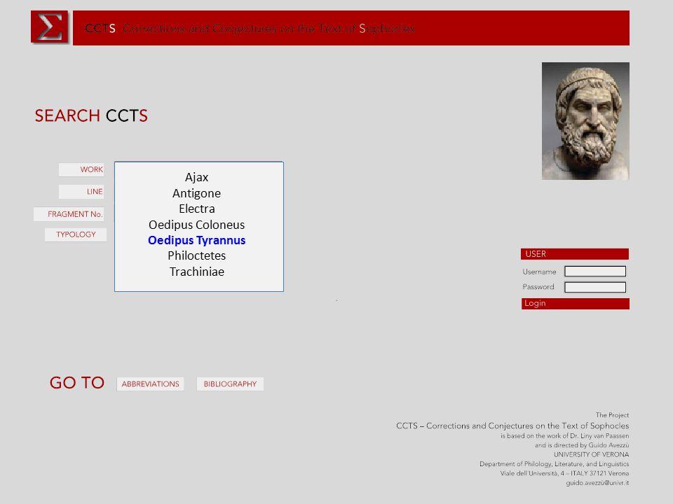 Ajax Antigone Electra Oedipus Coloneus Oedipus Tyrannus Philoctetes Trachiniae