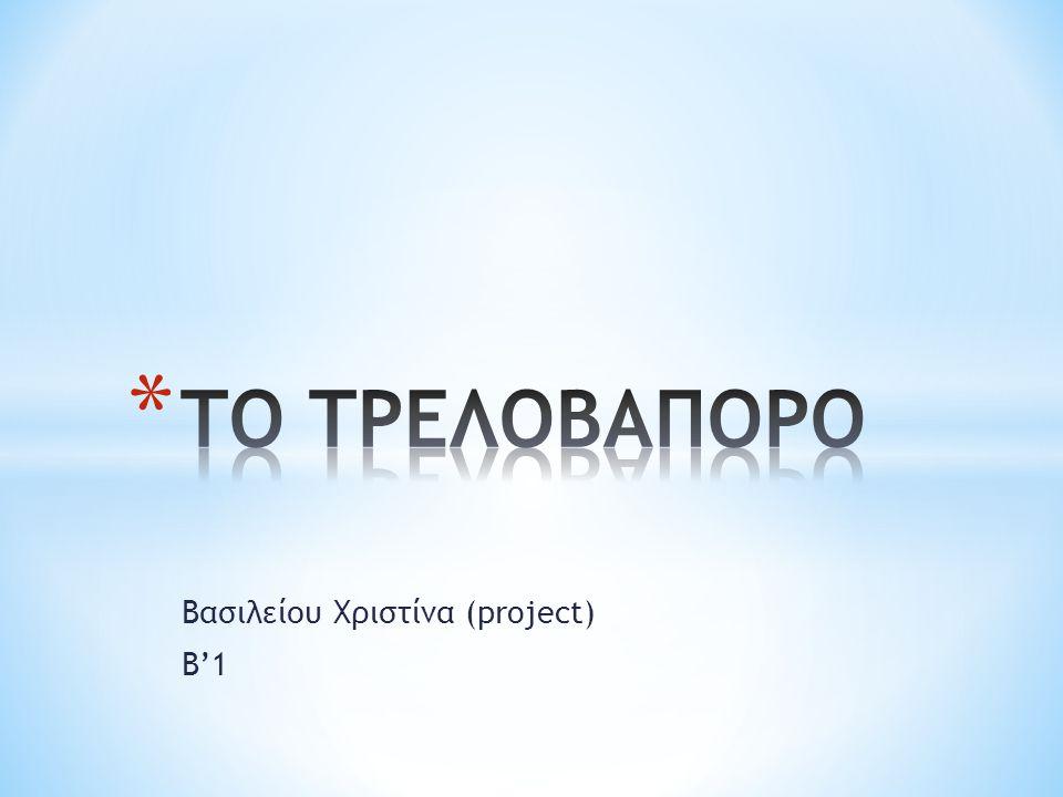Βασιλείου Χριστίνα (project) Β'1