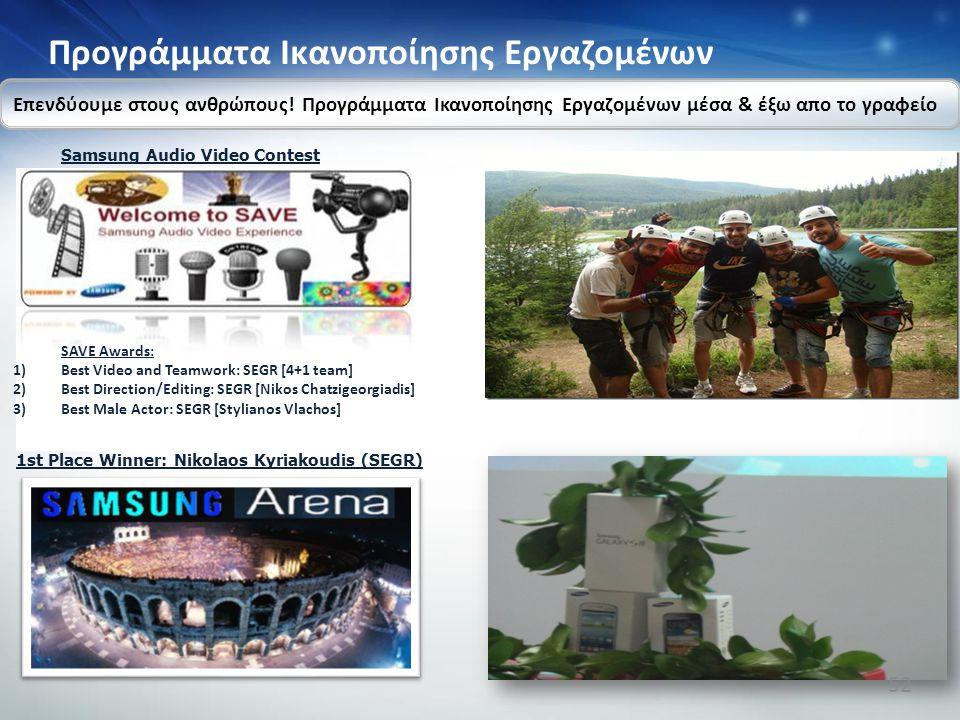 SAVE Awards: 1)Best Video and Teamwork: SEGR [4+1 team] 2)Best Direction/Editing: SEGR [Nikos Chatzigeorgiadis] 3)Best Male Actor: SEGR [Stylianos Vla