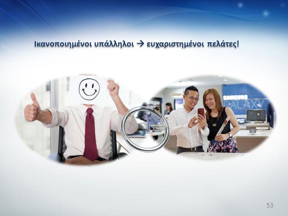Ικανοποιημένοι υπάλληλοι  ευχαριστημένοι πελάτες! Ικανοποιημένοι υπάλληλοι  ευχαριστημένοι πελάτες! 53