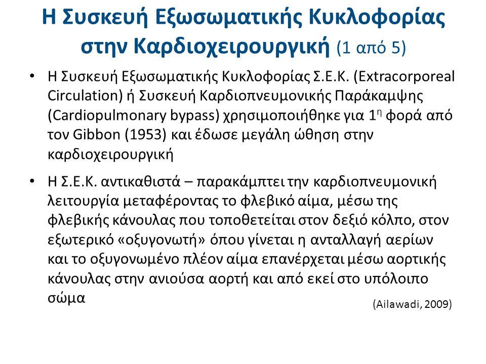 Η Συσκευή Εξωσωματικής Κυκλοφορίας στην Καρδιοχειρουργική (1 από 5) Η Συσκευή Εξωσωματικής Κυκλοφορίας Σ.Ε.Κ. (Extracorporeal Circulation) ή Συσκευή Κ