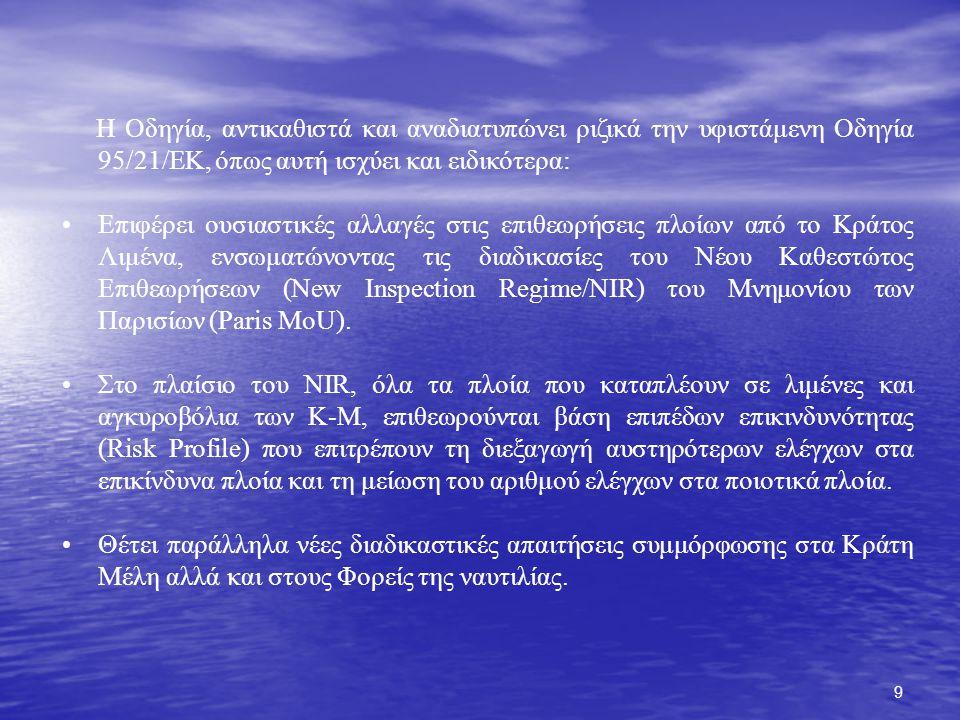 40 ΥΠΟΧΡΕΩΣΕΙΣ ΑΝΑΦΟΡΩΝ ATA 24 H 72 H ATD THETIS VTM Directive Requirement PSC Directive Requirement