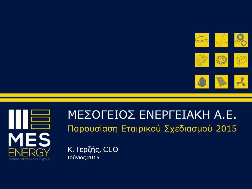 ΜΕΣΟΓΕΙΟΣ ΕΝΕΡΓΕΙΑΚΗ Α.Ε. Παρουσίαση Εταιρικού Σχεδιασμού 2015 Κ.Τερζής, CEO Ιούνιος 2015