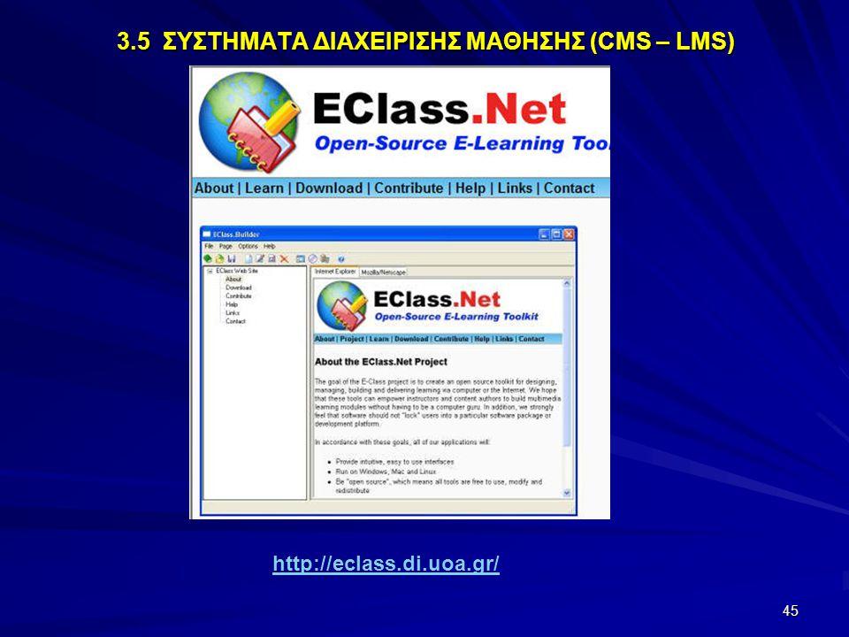 45 http://eclass.di.uoa.gr/