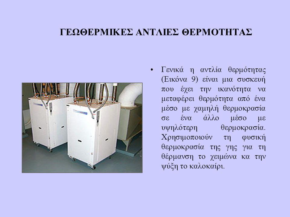 ΓΕΩΘΕΡΜΙΚΕΣ ΑΝΤΛΙΕΣ ΘΕΡΜΟΤΗΤΑΣ Γενικά η αντλία θερμότητας (Εικόνα 9) είναι μια συσκευή που έχει την ικανότητα να μεταφέρει θερμότητα από ένα μέσο με χ