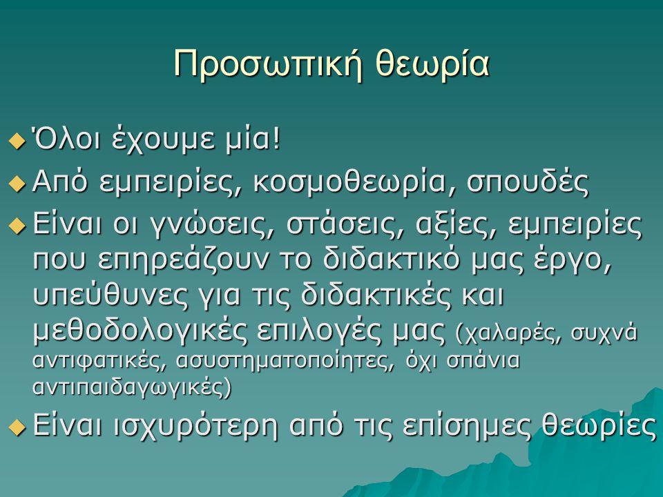 Κοινωνικογνωστικές θεωρίες  Κοινωνικός εποικοδομισμός (Vygotsky)  Κοινωνική μάθηση (Bandura)  Λεκτική αυτοκαθοδήγηση (Meichenbaum)  Κατασκευαστική