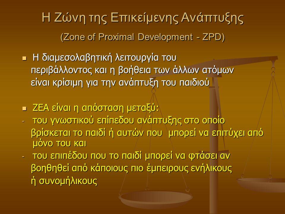 Στάδια Ανάπτυξης Πρωτόγονη, χωρίς έλεγχο αντίδραση στα ερεθίσματα Πρωτόγονη, χωρίς έλεγχο αντίδραση στα ερεθίσματα (βρέφος) (βρέφος) Χρήση εξωτερικών