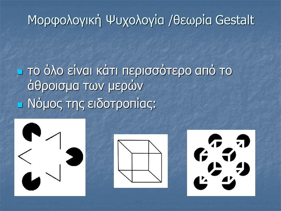 Γνωστικές θεωρίες Μορφολογική Ψυχολογία Μορφολογική Ψυχολογία Λογικομαθηματική μάθηση (Piaget) Λογικομαθηματική μάθηση (Piaget) Ανακαλυπτική μάθηση (B