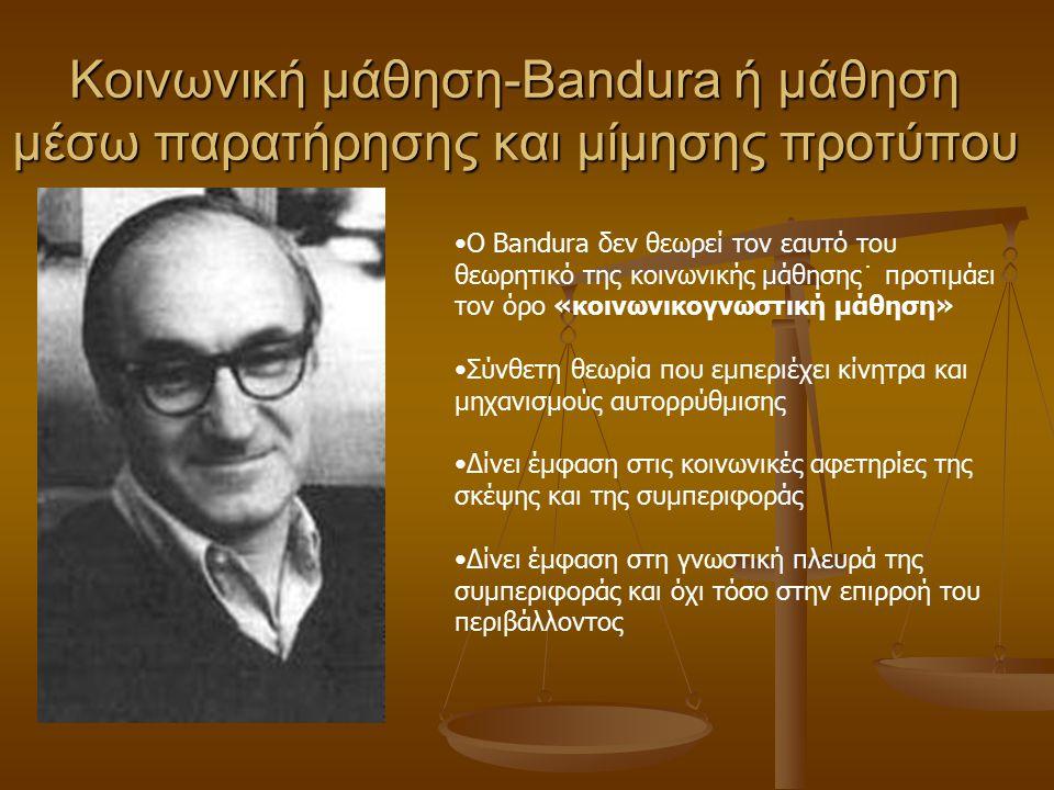 Κοινωνικογνωστικές θεωρίες Κοινωνική μάθηση (Bandura) Κοινωνική μάθηση (Bandura) Κοινωνικός εποικοδομισμός (Vygotsky) Κοινωνικός εποικοδομισμός (Vygot