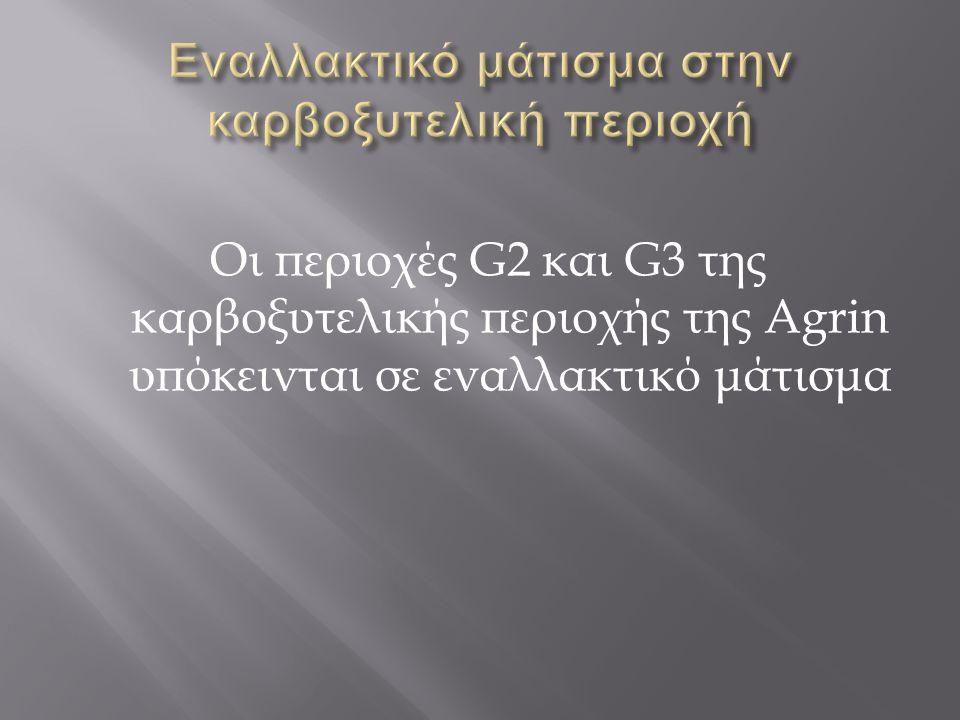 Οι περιοχές G2 και G3 της καρβοξυτελικής περιοχής της Agrin υπόκεινται σε εναλλακτικό μάτισμα
