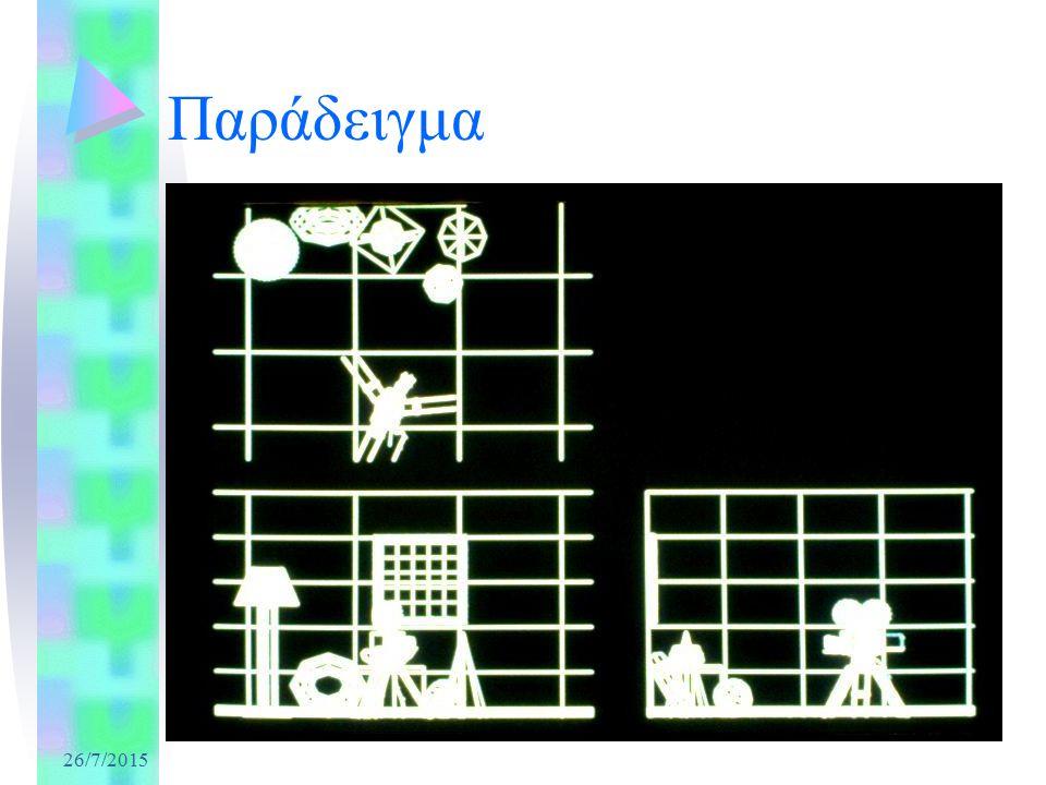 Καταχωρητές Εικόνας (3) Καταχωρητής Πλαισίου: –Μνήμη όπου συλλέγεται η χρωματική πληροφορία κάθε εικονοστοιχείου κατά την σχεδίαση, πριν οδηγηθεί στην έξοδο των γραφικών –Ύπαρξη 2 καταχωρητών πλαισίου Καταχωρητής Βάθους ή Καταχωρητής Z: –Αποθηκεύει τιμές απόστασης –Χρησιμοποιείται για απομάκρυνση κρυμμένων επιφανειών Άλλοι καταχωρητές: –Καταχωρητής Μάσκας –Καταχωρητής Συσσώρευσης