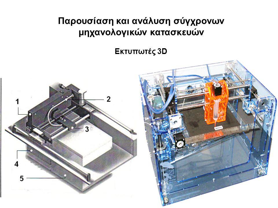17 Παρουσίαση και ανάλυση σύγχρονων μηχανολογικών κατασκευών Εκτυπωτές 3D
