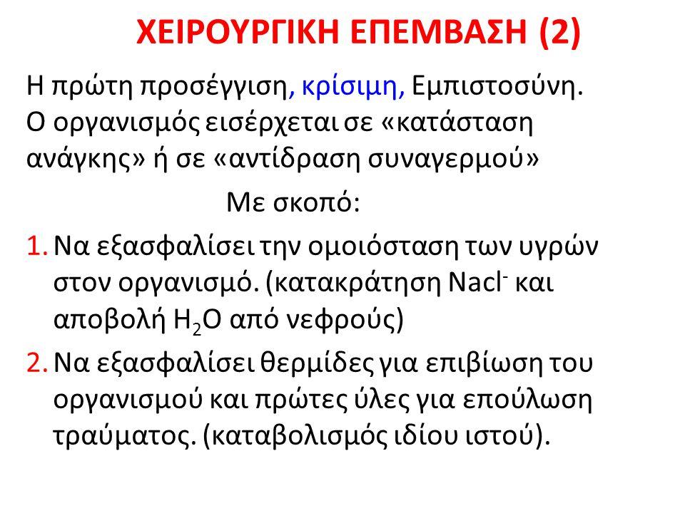 ΧΕΙΡΟΥΡΓΙΚΗ ΕΠΕΜΒΑΣΗ (2) Η πρώτη προσέγγιση, κρίσιμη, Εμπιστοσύνη.