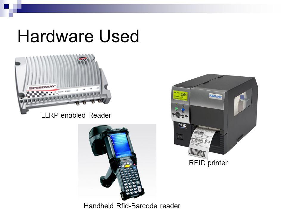 Hardware Used LLRP enabled Reader Handheld Rfid-Barcode reader RFID printer
