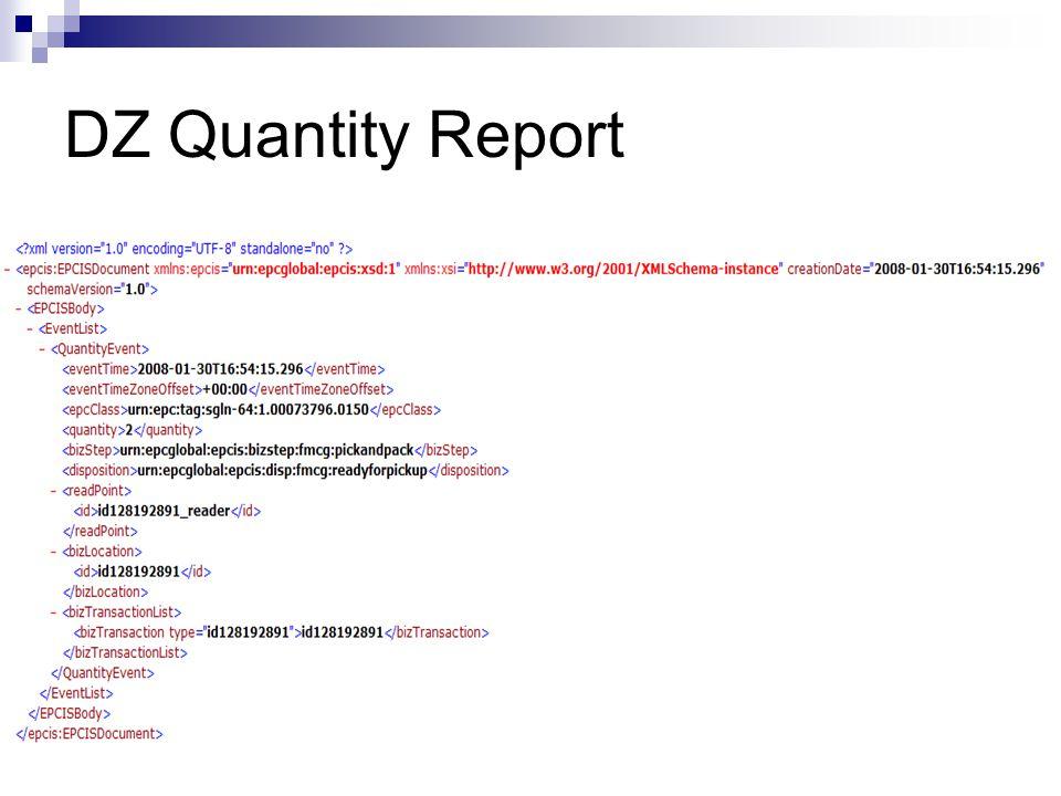 DZ Quantity Report