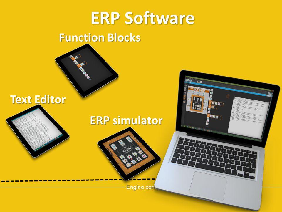 Engino.com ERP simulator ERPSoftware ERP Software Function Blocks Text Editor