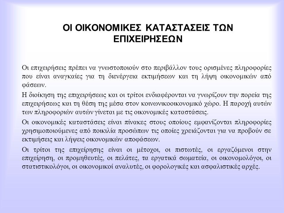 Τα αποτελέσματα από τις μεταβολές των συμμετοχών και των χρεογράφων θεωρούνται οργανικό αποτέλεσμα και ως εκ τούτου οι ζημιές καταχωρούνται στην 6η ομάδα των λογαριασμών του Ε.Γ.Λ.Σ.