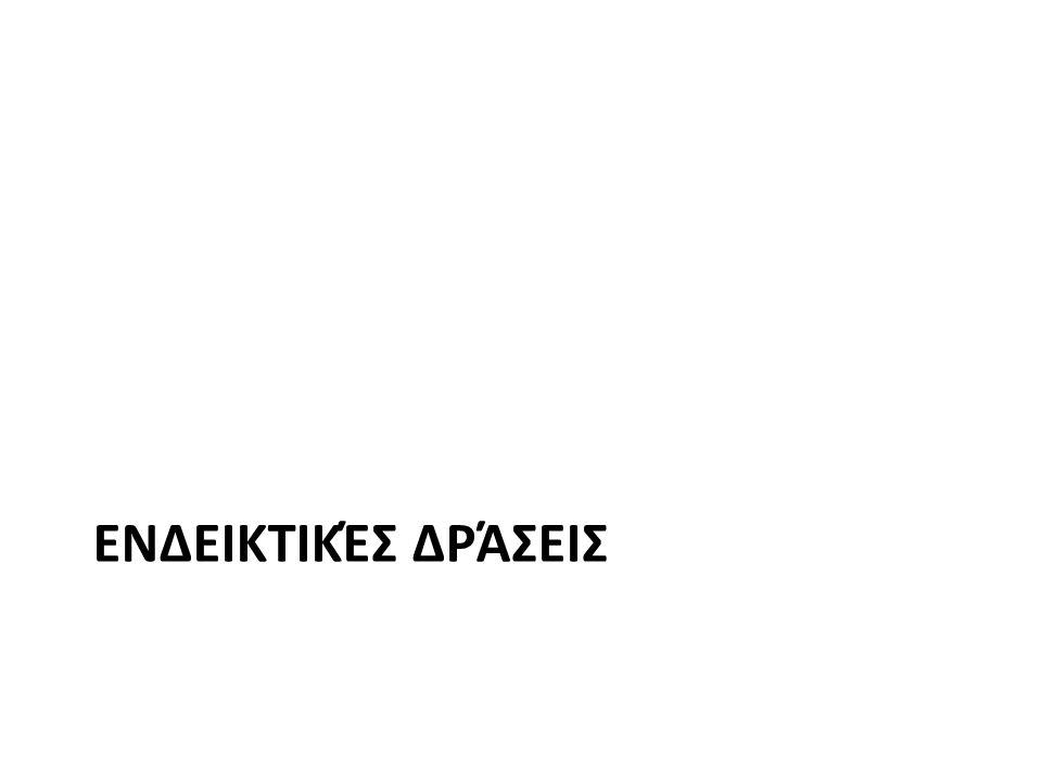 ΕΝΔΕΙΚΤΙΚΈΣ ΔΡΆΣΕΙΣ
