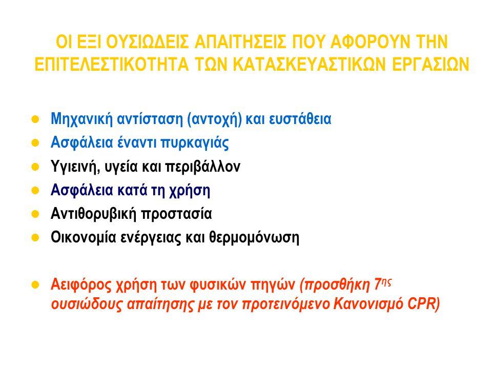 Εφαρμογή των Ευρωκωδίκων Ευρωκώδικας Τυποποιητικό μέρος (χωρίς επιλογή) Μέρος ανοιχτό σε επιλογές Μετατροπή σε Εθνικό Πρότυπο Επιλογές στο Εθνικό Προσάρτημα (Εθνικό) Επιλογές «για το συγκεκριμένο έργο», εθνικές οδηγίες κλπ.
