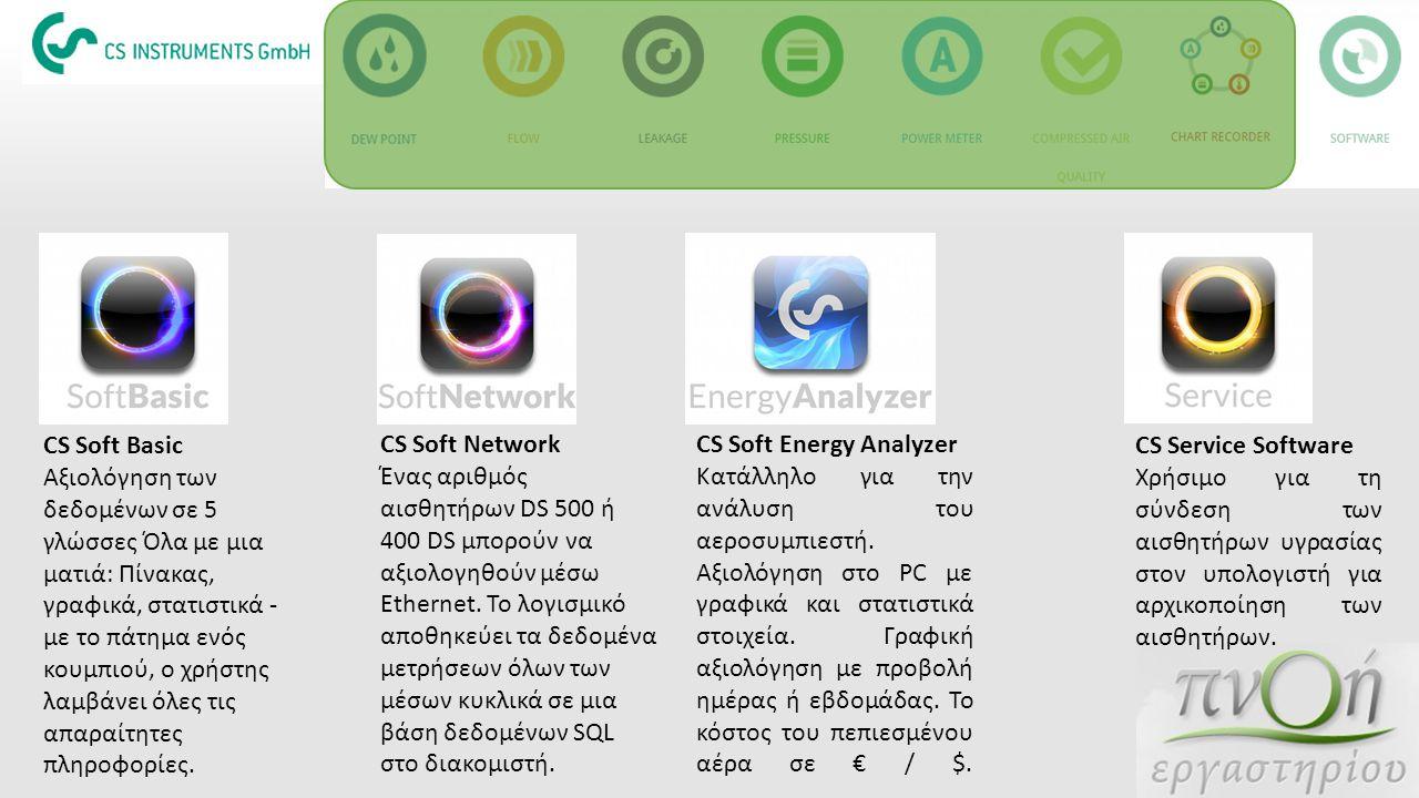 CS Soft Basic Αξιολόγηση των δεδομένων σε 5 γλώσσες Όλα με μια ματιά: Πίνακας, γραφικά, στατιστικά - με το πάτημα ενός κουμπιού, ο χρήστης λαμβάνει όλ