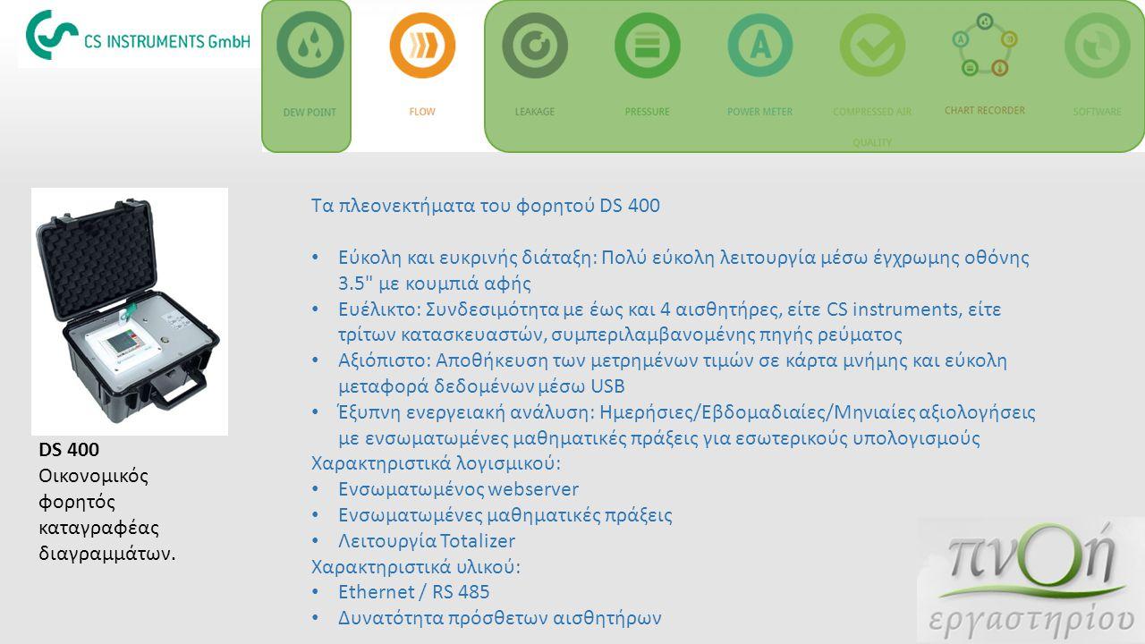Τα πλεονεκτήματα του φορητού DS 400 Εύκολη και ευκρινής διάταξη: Πολύ εύκολη λειτουργία μέσω έγχρωμης οθόνης 3.5