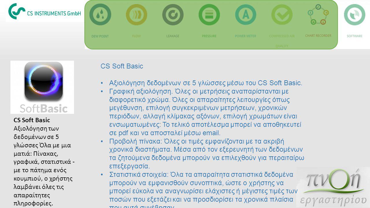 CS Soft Basic Αξιολόγηση δεδομένων σε 5 γλώσσες μέσω του CS Soft Basic. Γραφική αξιολόγηση. Όλες οι μετρήσεις αναπαρίστανται με διαφορετικό χρώμα. Όλε