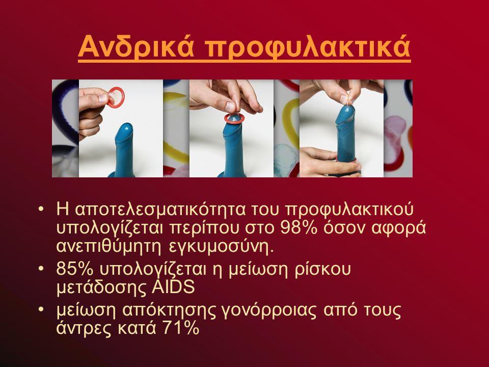Η αποτελεσματικότητα του προφυλακτικού υπολογίζεται περίπου στο 98% όσον αφορά ανεπιθύμητη εγκυμοσύνη.