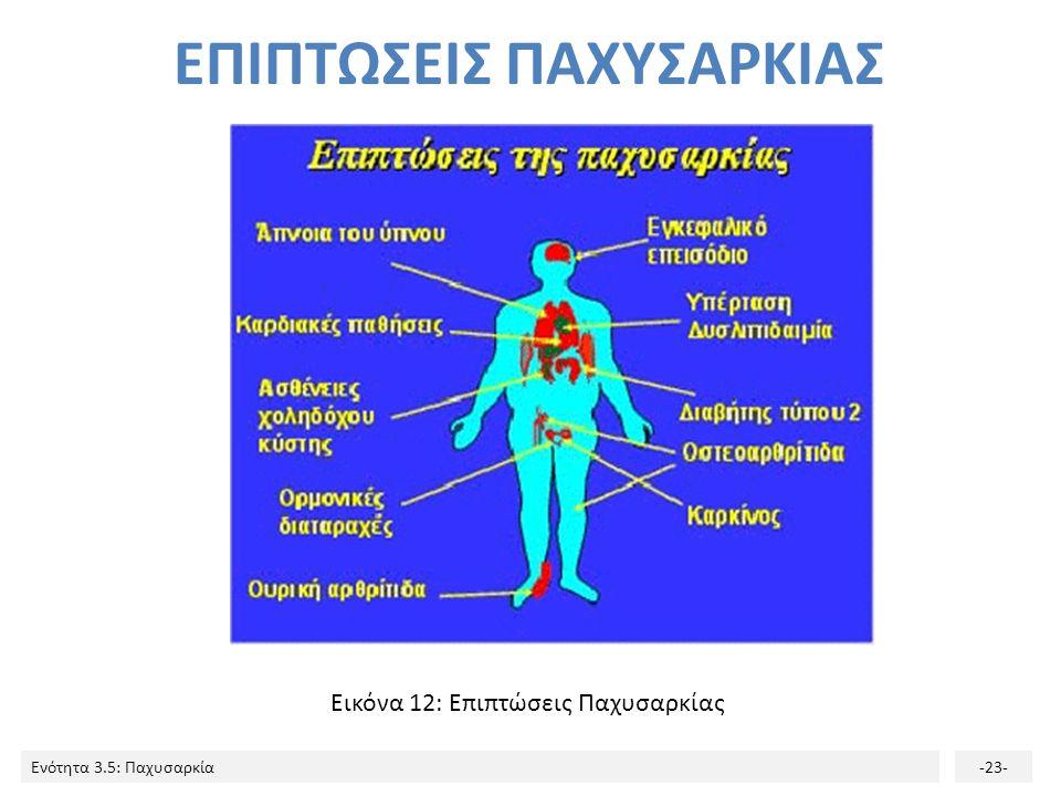 Ενότητα 3.5: Παχυσαρκία-23- Εικόνα 12: Επιπτώσεις Παχυσαρκίας ΕΠΙΠΤΩΣΕΙΣ ΠΑΧΥΣΑΡΚΙΑΣ