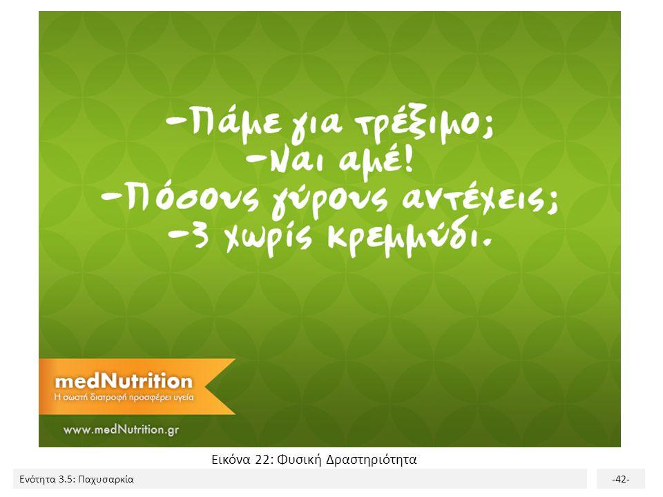 Ενότητα 3.5: Παχυσαρκία-42- Εικόνα 22: Φυσική Δραστηριότητα