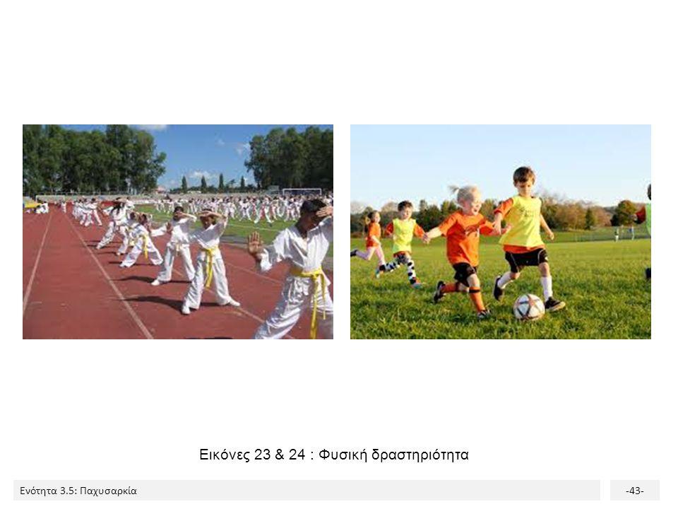 Ενότητα 3.5: Παχυσαρκία-43- Εικόνες 23 & 24 : Φυσική δραστηριότητα