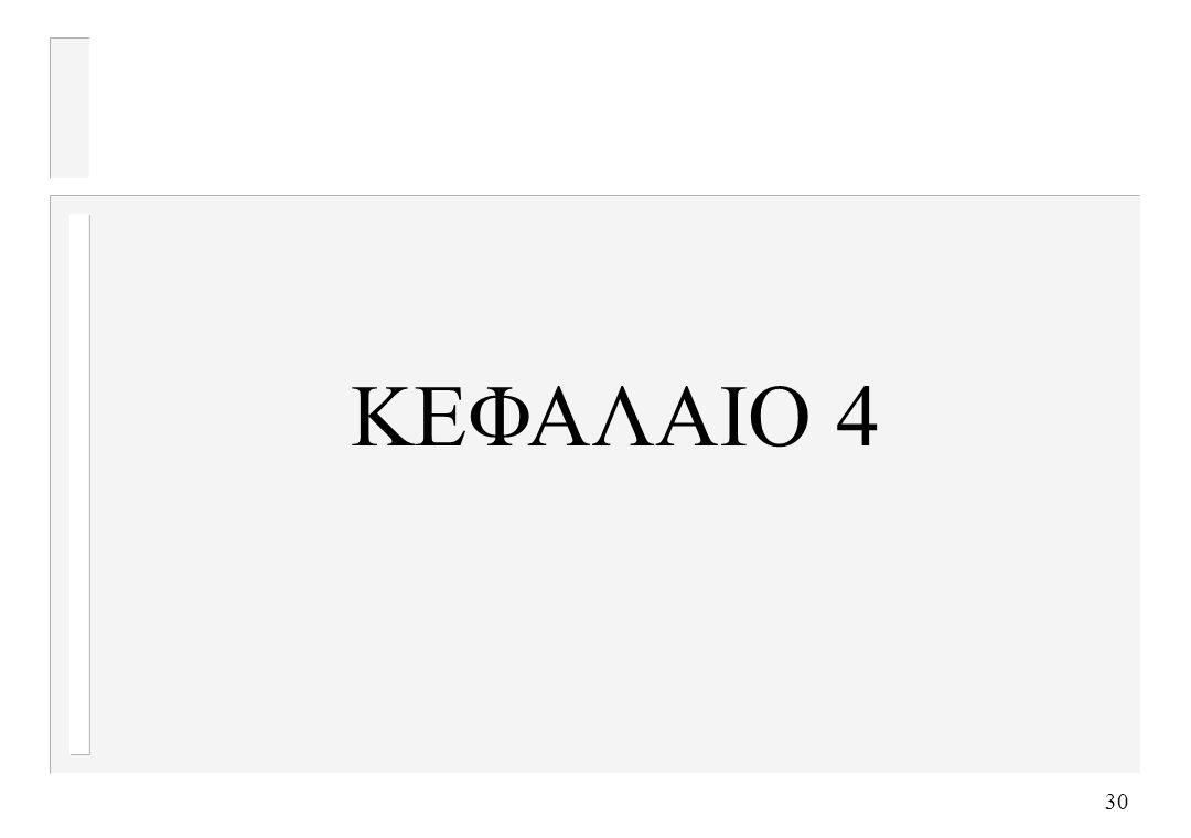 30 ΚΕΦΑΛΑΙΟ 4